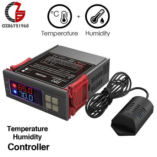 12V 24V 110V 220V Digital Temperature Humidity Controller Incubator Thermostat Humidistat Thermometer Hygrometer Soil Moisture