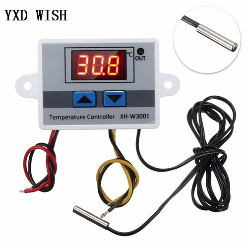 XH-W3001 Digital Temperature Controller Thermostat W3001 110V 220V 12V 24V Thermoregulator Aquarium Incubator Temp Regulator