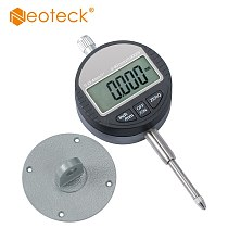 Neoteck DTI Digital Dial Indicator 0.001/0.00005'' Digital Probe Indicator Dial Test Gauge 0-25.4mm/1'' Dial Test Indicator Test