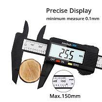 150mm Electronic Digital Caliper 6 Inch Carbon Fiber Vernier Caliper Gauge Micrometer Measuring Tool Digital Ruler Instruments