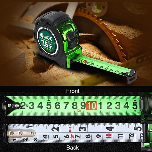 LAOA3/5/7.5M Mn Steel Measure Tape  Roulette Double-sided Steel Tapes British Metric Type Tapeline Roulette Wood Working Tools