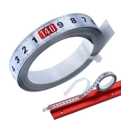 1-5m Stainless Steel Miter Track Tape Measure Self Adhesive Metric Scale Ruler Rust-Proof Durable and Wear-Resistan Ruler