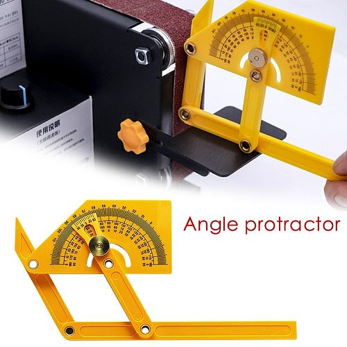 Protractor and Angle Finder Woodworking Measurement Tool 0° to 180° Woodworking Angle Ruler Plastic Protractor