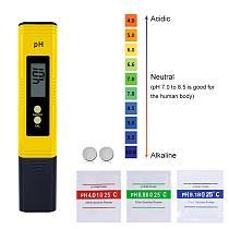 Protable LCD Digital PH Meter for brewing Aquarium Pool Water Wine Urine tds meter self calibrating  10pcs