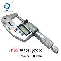 IP65 0-25mm Electronic Digital Micrometer 0-25 mm 0.001mm Waterproof Outside Caliper Micrometers Thickness Gauge Measuring Tools