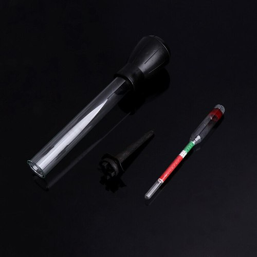 OOTDTY 1.1-1.3 Colored Zone Black Battery Hydrometer Tester Acid Electrolyte Lead Flooded PQ