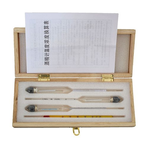 Alcohol Meter for Vodka Whiskey Alcoholmeter In Box (0-40%, 30-70%, 70-100%)