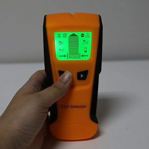 Yellow Yellow TH210 Wall Thickness Gauge Without Battery Backlight Stud Metal AC Wire Scanner Wall Stud Finder Electronic Auto