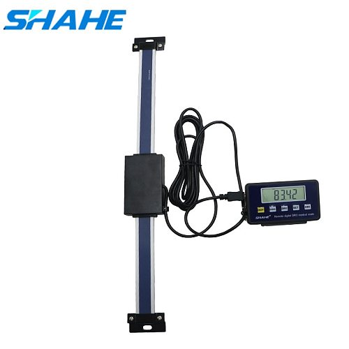 shahe 0-150/200/300mm Remote Digital linear Scale Table Readout Scale for Bridgeport Mill Lathe Linear Ruler with LCD Base