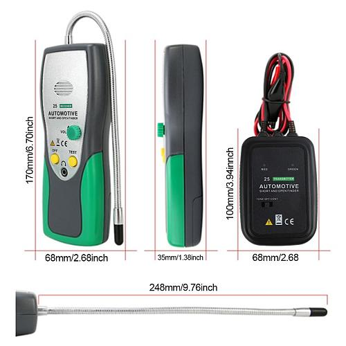 DY25 Automotive Short&Open Circuit Finder Tester Cable Tracker Repair Tool Tester Car Tracer Diagnose Tone Line Finder /Wires