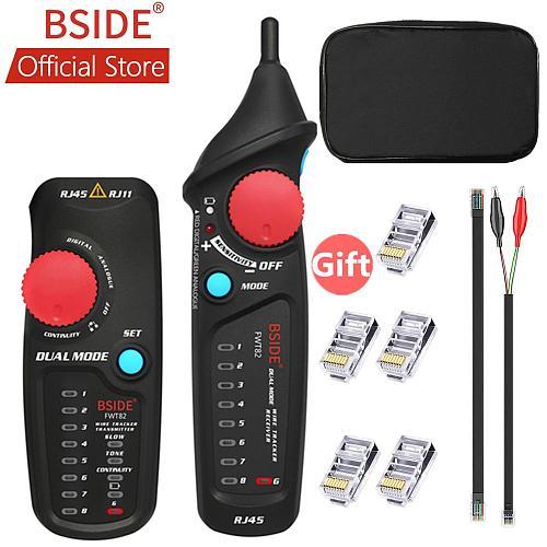 BSIDE FWT82 Dual Mode Network Cable Tracker Wire Toner RJ45 RJ11 Ethernet LAN Tracer Analyzer Detector Line Finder