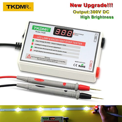 TKDMR LED Lamp Bead and Backlight Tester no Need Disassemble LCD Screen All LED Strips Lights Repair Test Output 0-300V