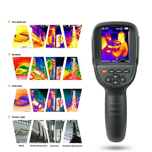 HT-18 Sell Hot Handheld Thermograph Camera Infrared Thermal Camera HT18 Digital Infrared Imager With 2.4 Inch Color Lcd Display