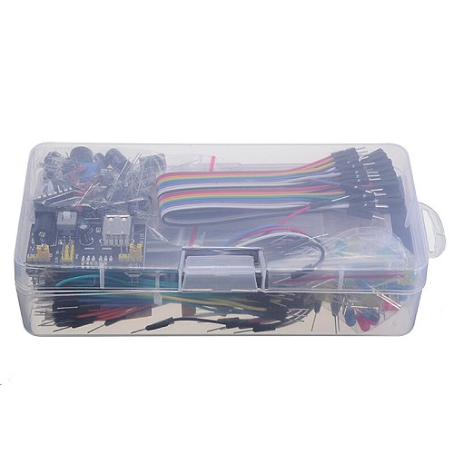 Electronics Component Basic Starter Kit With Breadboard Cable Resistor Capacitor LED Potentiometer For Arduino