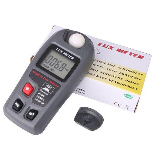 MT30 0.1~200,000 Lux Electronic Photometer LCD Digital Lumen Light Meter Factory/Warehouse/School/Street Light