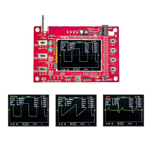 DSO FNIRSI-138 2.4  TFT Digital Oscilloscope 1Msps + Probe Analog Bandwidth (Welded)