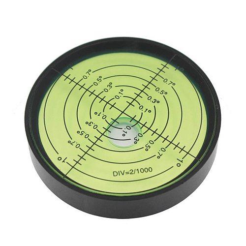 HACCURY High Precision Metal Circular Level Bubble Spirit Level Bubble Green Diameter 60mm Height 12mm