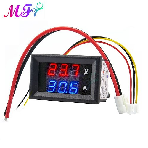 Mini Digital Voltmeter Ammeter DC 100V 50A 100A Panel Amp Volt Voltage Current Meter Tester Detector Dual LED Display Auto Car