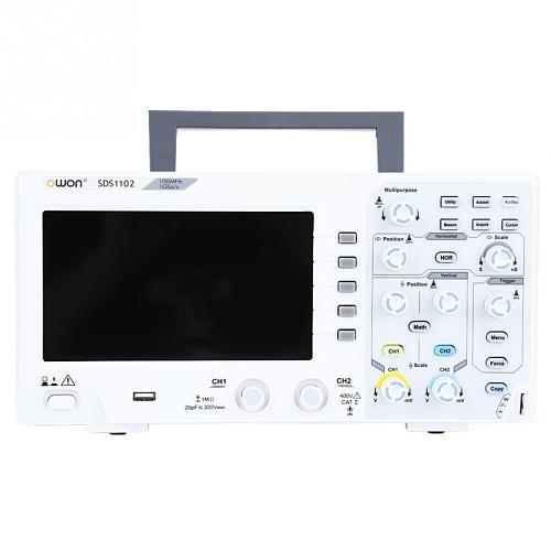OWON SDS1102 Oscilloscope 2-Channel Digital Oscilloscopes 100MHZ Bandwidth 1GS/s High Accuracy Oscilloscope