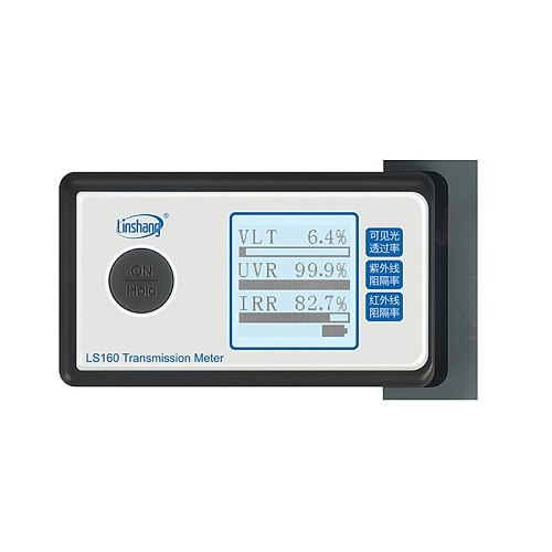 LS160 Linshang Portable Solar Film Transmission Meter Test Window Tint UV IR rejection visible light transmittance