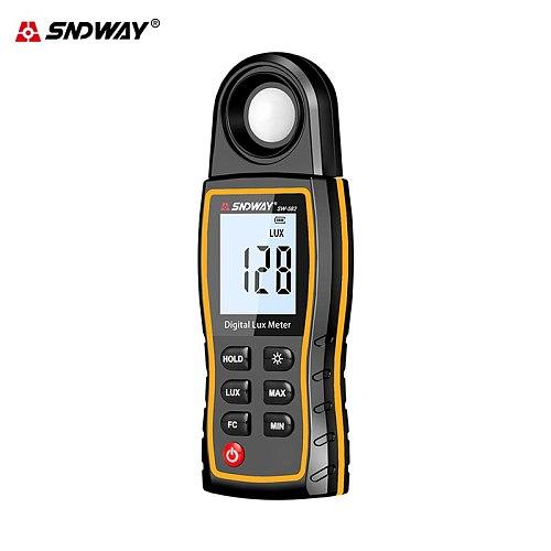 Sndway luxmeter digital light meter 0-200000 lux meter 360-degree photometer for photography hand-held luminometer lumen meter