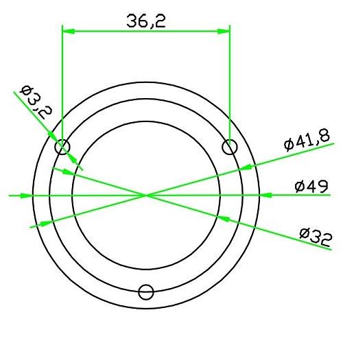 HACCURY Mini Level Round Bubble Spirit Level Diameter 50mm Height 13mm Magnetic Optional 1PCS