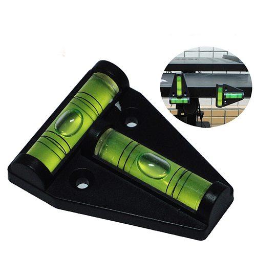 1 piece Mini T type spirit level measurement instrument Triangular level  T-type spirit bubble Shell Plastic Measuring Tools
