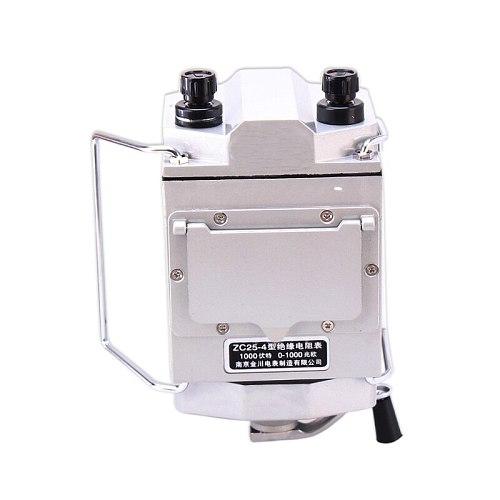 ZC25-4 1000V 1000MΩ ohm Insulation Megohm Tester Resistance Meter Megger Megohmmeter with plastic case High quality