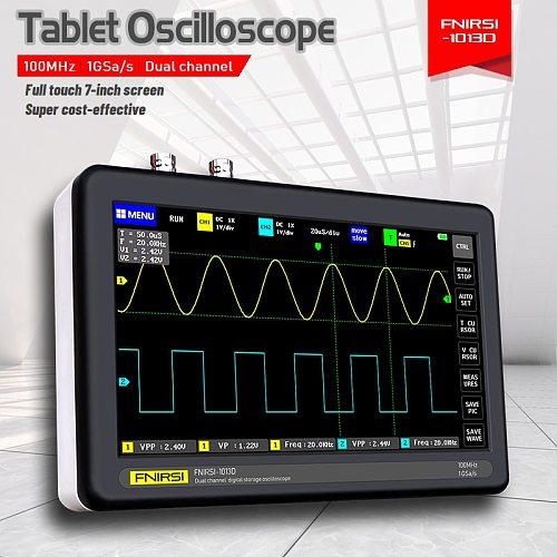 FNIRSI-1013D Digital tablet oscilloscope dual channel 100M bandwidth 1GS sampling rate tablet digital oscilloscope