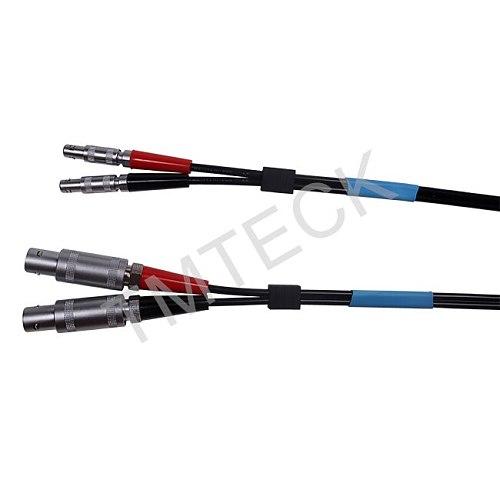 equlity  Krautkramer SEKL2  ultrasonic Dual cable  LEMO 00 TO LEMO 1  FOR NDT FLAW DETECTOR