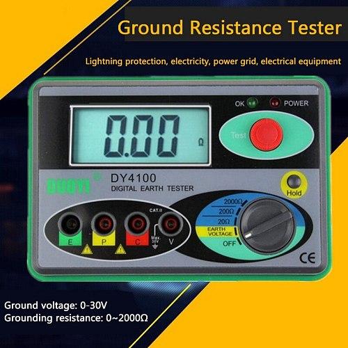 Multifunction 0-2000 Megohmmeter Digital Earth Tester Ground Resistance Tester Meter Real Digital Tester Digital Earth Ground