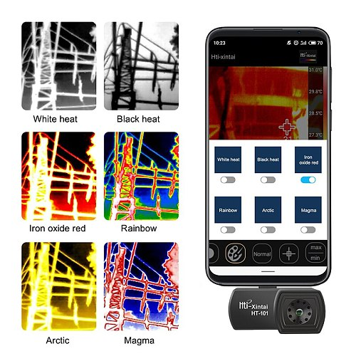HT-101 Phone Thermal Detection Imager for Android Type C Thermal Temperature Video Pictures Face Imaging Camera