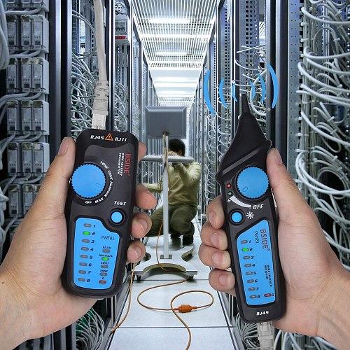 Network cable tracker detecteur BSIDE FWT81 RJ11/45 Lan Ethernet Phone wire tester Finder Telecom Tool electrified work 48V