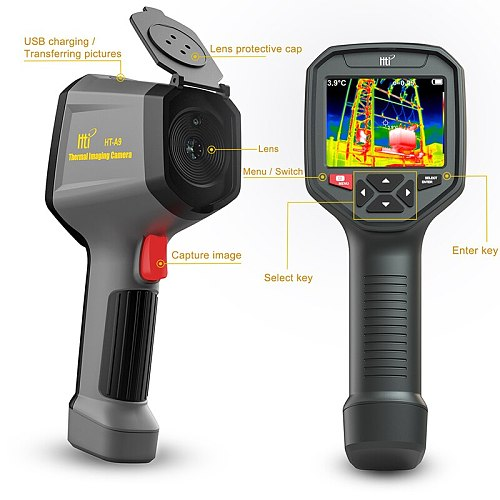 HT-A8/A9 WIFI IR Infrared Thermal Imager Camera Handheld Temperature Automatic Tracking Thermal Imaging Camera Rechargeable