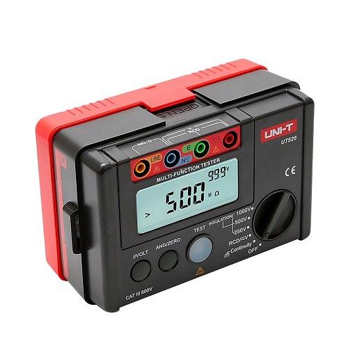 UNI-T UT526 Multi-function digital electric meter Electrical Insulation Tester UT526 Earth Resistance Meter+RCD Test Machi