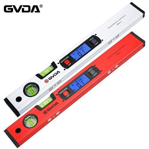 GVDA Digital Inclinometer Protractor Electronic Spirit level Bubble Box 360 degree Magnetic Goniometer Angle Slope Meter Ruler