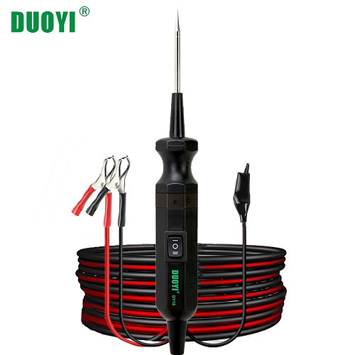 DUOYI DY18 Car Circuit Tester Power Probe Automotive Diagnostic Tool 12V 24V Electrical Current Voltage Integrated Power Scanner
