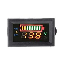 12V Car Lead Acid Battery Charge Level Indicator Battery Tester Lithium Battery Capacity Meter LED Tester Voltmeter Dual Display