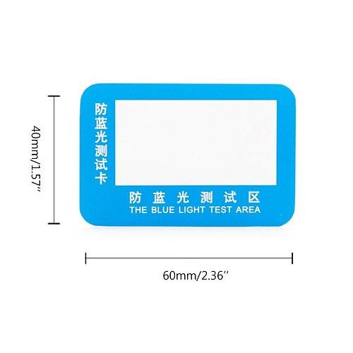 10pcs PVC Anti-Blue Light Test Card Test Light Glasses UV Test Accessories Card Blue Light Detection Card Generator Card