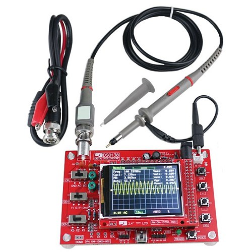 2.4Inch Tft Digital Oscilloscope 1Msps Kit Parts For Oscilloscope Making Electronic Diagnostic-Tool Learning Set Dso138+P6040