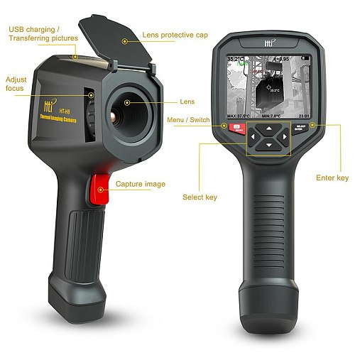 HT-H8 WIFI IR Infrared Thermal Imager Camera Handheld Temperature Automatic Tracking Thermal Imaging Camera Rechargeable 3.5 TFT