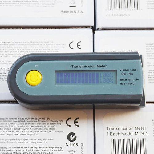 Portable Digital Solar Film Tester Meter 380-780nm VLT 900-1000nm IR Rejection Light Transmission Meter for Automotive Film