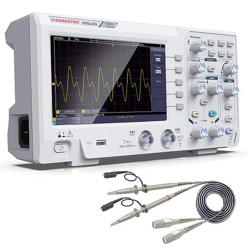 DOS1102 Best Digital Oscilloscope 100mhz 2chanel oscillograph 1gsa/s 7'' Tft Lcd Better Than Ads1102cal+ Osciloscope Kit