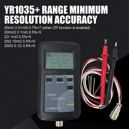 New Original Four-line YR1035 Lithium Battery Internal Resistance Meter Tester YR 1035 Detector 18650 Dry Battery Combination 1