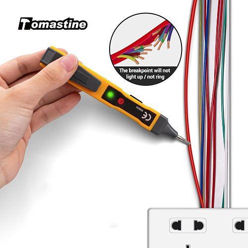 Anti-electric Shock AC/DC Voltage Detector Electric Non-contact Pen Tester Continuity Battery Test Pencil with Sound Light Alarm