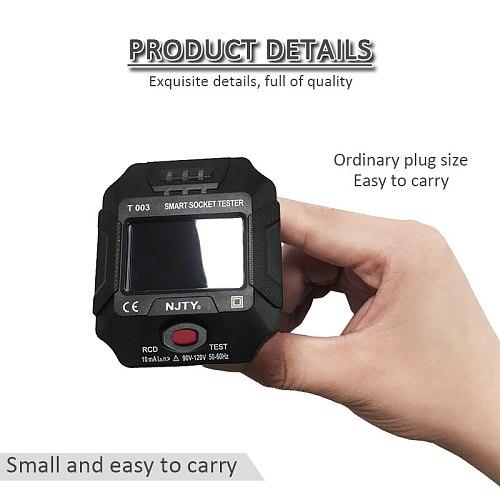 UK EU Plug Socket Tester Socket Outlet Smart Tester Digital Display Socket Tester Wall Breaker Finder Voltage Test Phase Check