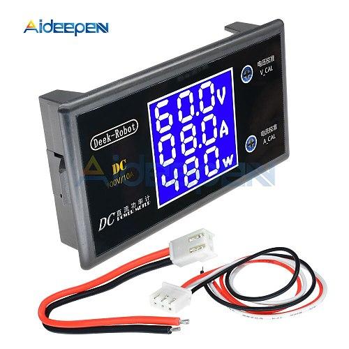 DC 0-100V 10A LCD Display Digital Voltmeter Ammeter Wattmeter Voltage Current Power Meter Volt Detector Tester 12V 24V 36V 1000W