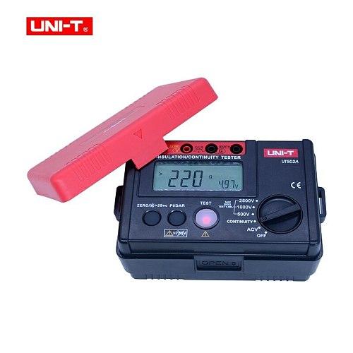 Megger meter UNI-T UT502A Digital Insulation Resistance Tester 500-2500V Megohmmeter 30~600V AC Voltage meter LCD Backlight+gjft