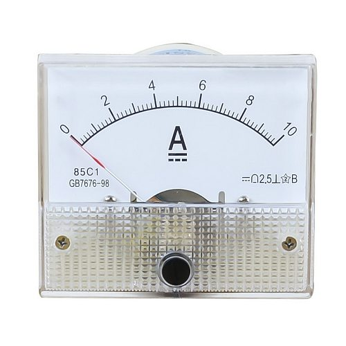 DC Plastic Analog Pointer Ammeter Ampere Meter  Panel 1A 2A 3A 5A 10A 20A 50A 100A High Accuracy Mechanical Current Meters