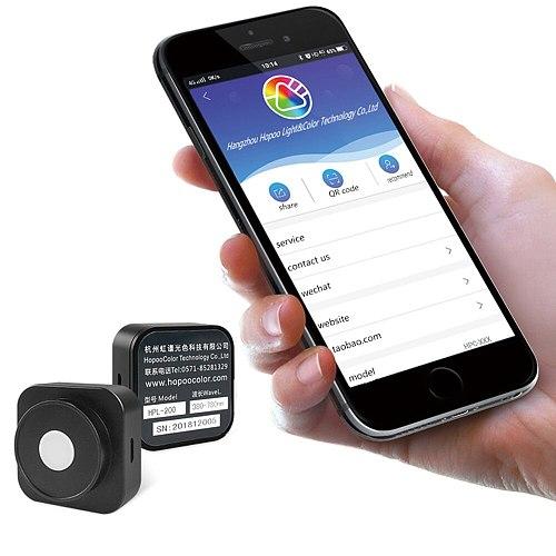 PAR PPFD LED Light Meter umol/m2/s HPL200P bluetooth connection Grow light test